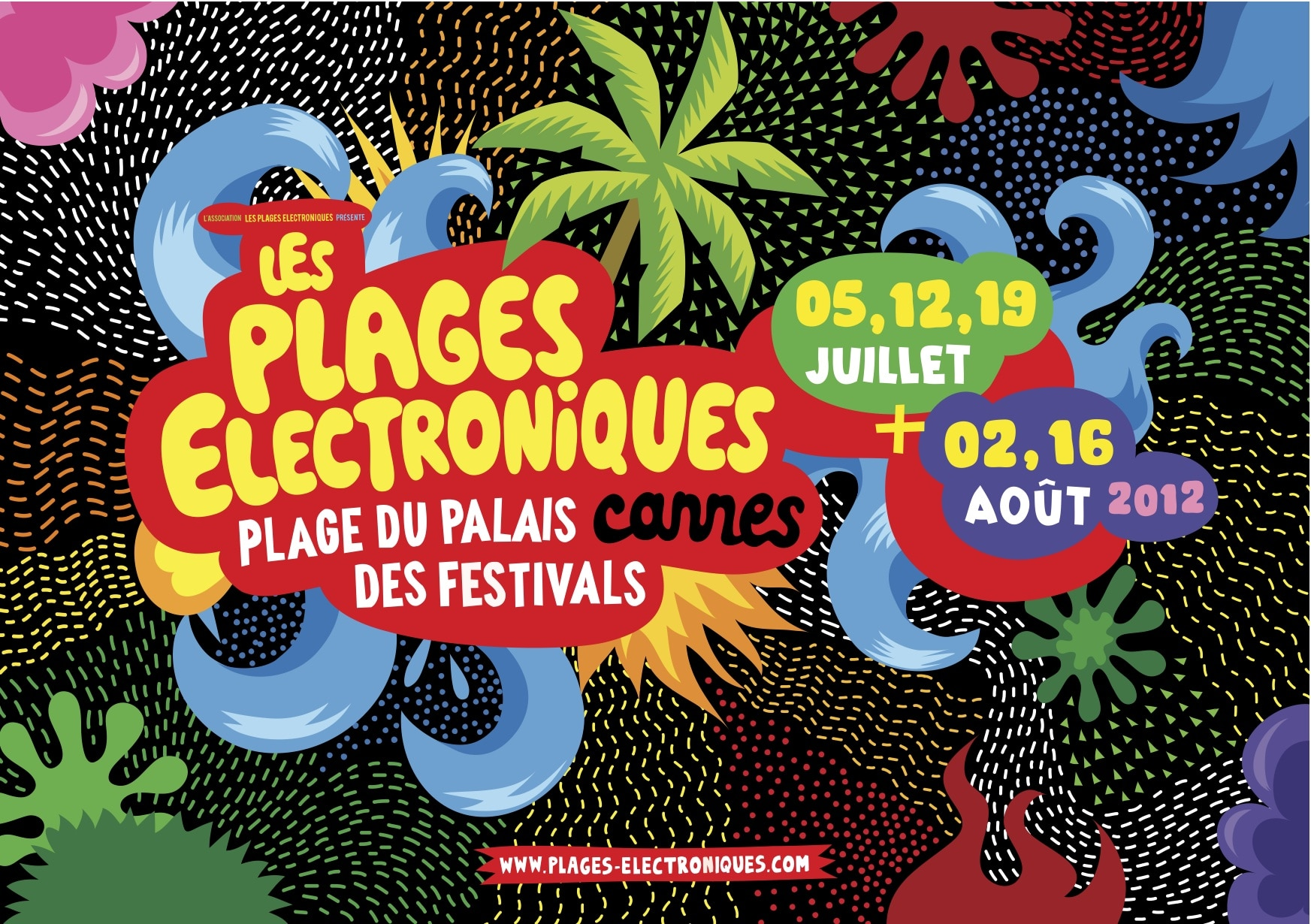 les plages electroniques cannes les plages electroniques festival electro france festival electro concours concert les plages electroniques  Concours, les plages electroniques Visuel plages electroniques 2012