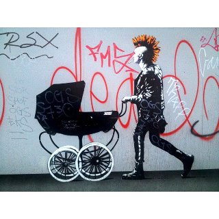 Street art of the week street art  Street art of the week #7 punk and baby