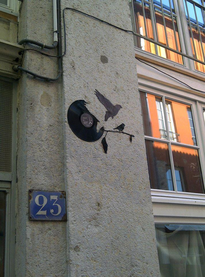 Street art of the week street art art  Street art of the week #9 bird and music