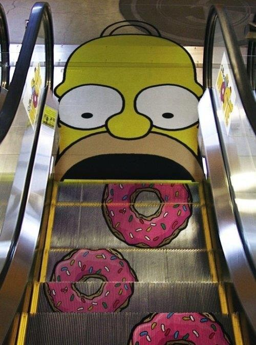 Street art of the week street art art simpsons street art  Street art of the week #11 homer and donuts street art