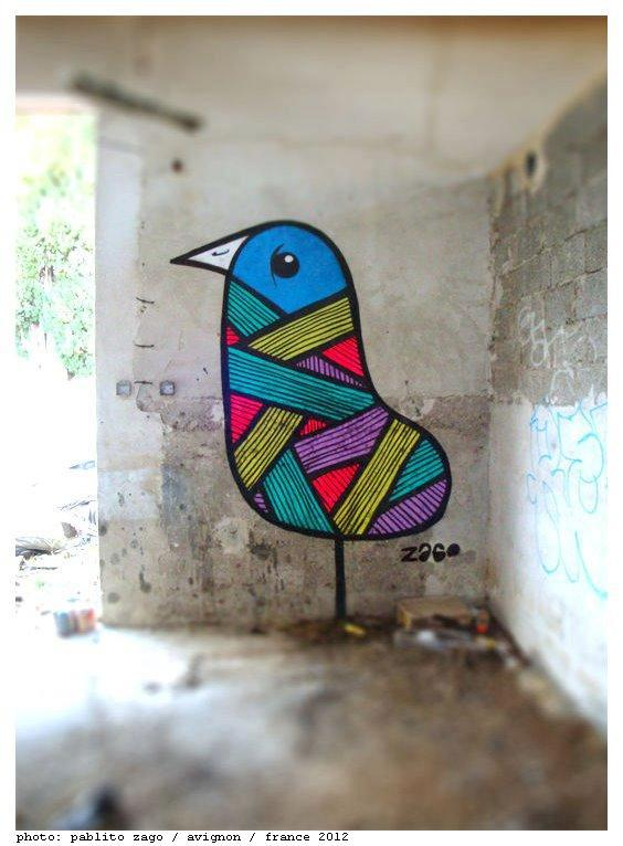 Street art of the week street art art  Street art of the week #9 oiseaux