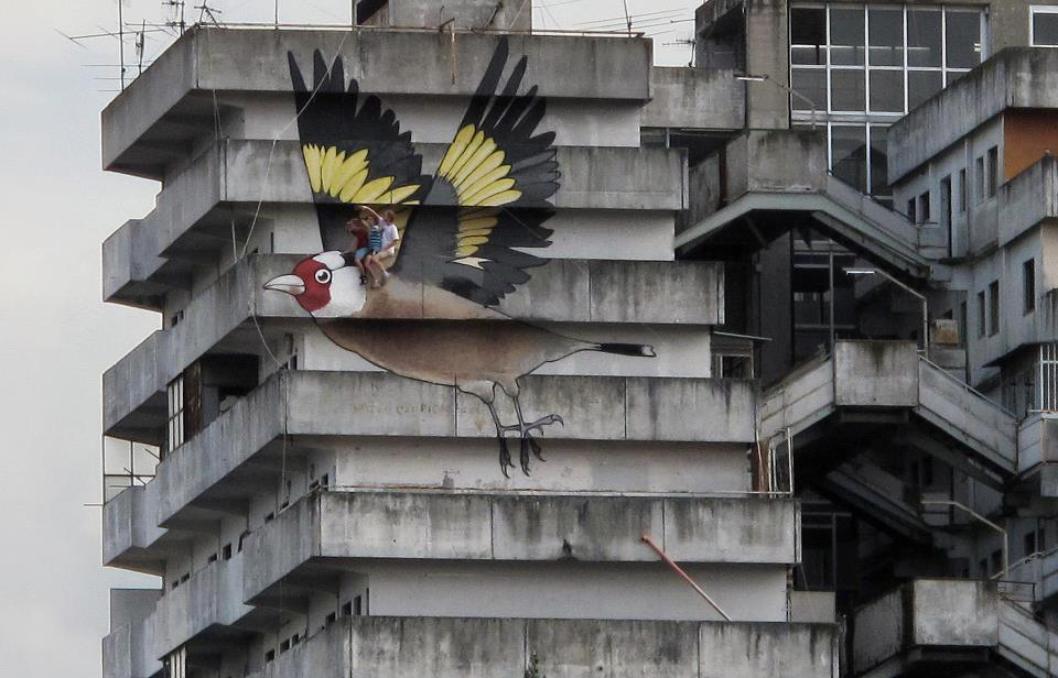 Street art of the week street art kid street art cesar alexander betty boop art art  Street art of the week #12 song bird