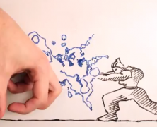 Maker vs Marker, baston en stop motion