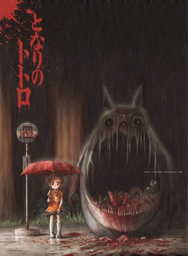 Horroro-version-of-My-Neighbour-Totoro-studio-ghibli-27066307-368-500
