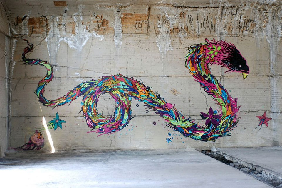 street arte-dragon-graff