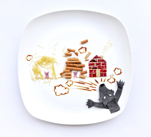 every-day-food-art-project-hong-yi-14threelittlepig2