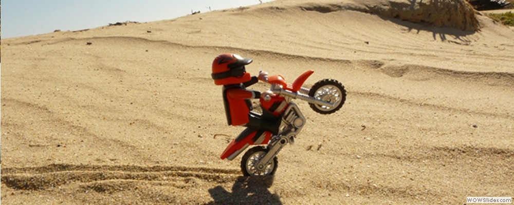 Stop motion-motocross-playmobil