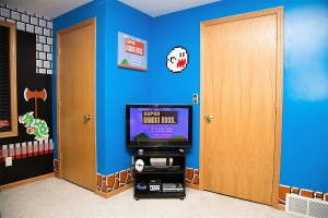 Mario bros themed  room