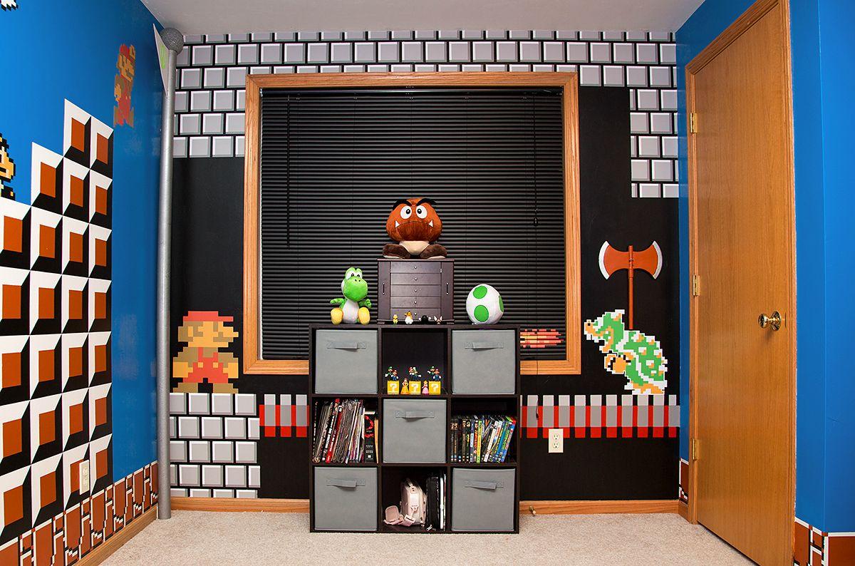 Mario bros themed room