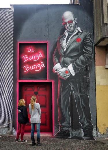 -LA CASA DI SILVIO- Street art in Rome (Exit door of -Rising Love- club), Italy, by MTO-love-street-art