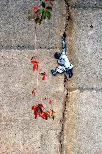 Mini street art in New Jersey, USA, by Joe Iurato-green-street-art