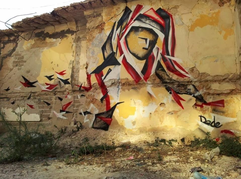 Street art in Israel by street artist DEDE-cute-street-art