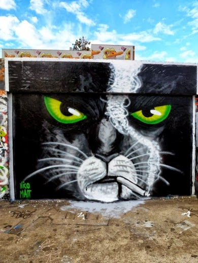 Street art in Rennes, France, by Marr and Nico. Photo by vidos-love-street-art