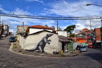 Street art in Sao Paulo, Brazil, by ROA-green-street-art