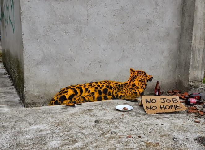 Street art in St,. Etienne, France, by Oakoak-love street art