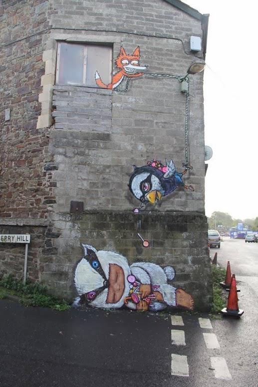 Street art in UK by Mau Maucute-street-art