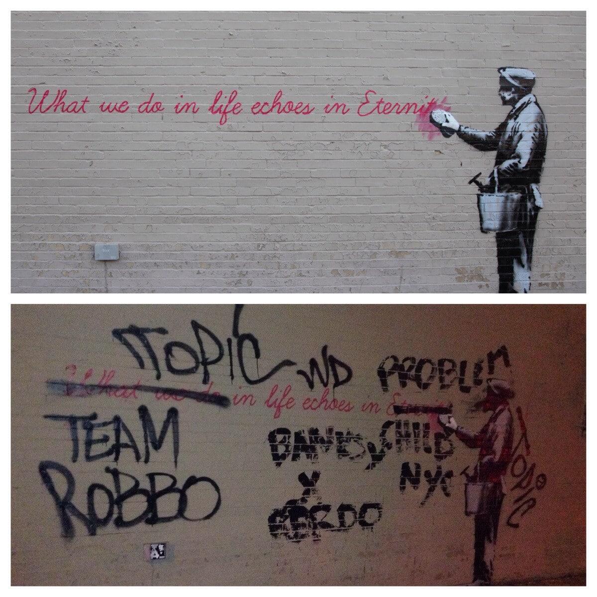Banksy x Robbo