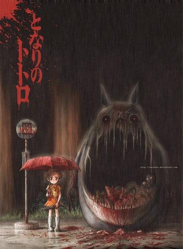 Horroro-version-of-My-Neighbour-Totoro-studio-ghibli-27066307-368-500