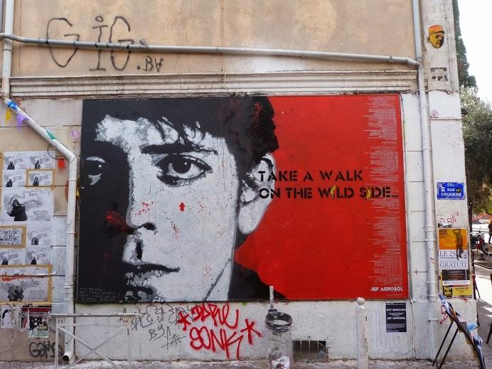 -Take A Walk On The Wild Side- Street art in Marseille, France, by French street artist Jef Aerosol-true-street-art