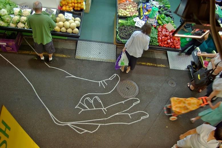 Tape street art in Adelaide, Australia, by BUFFdiss,