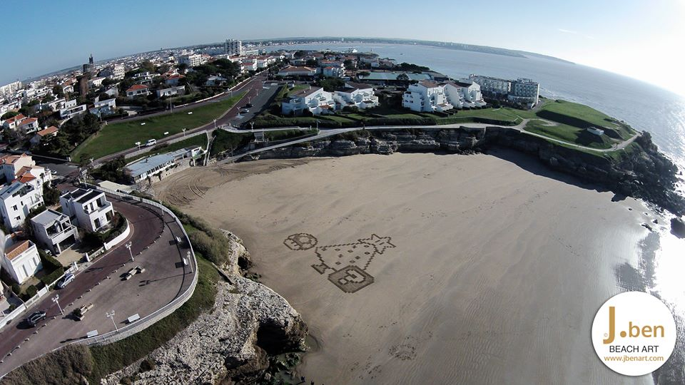 beach-art-mario