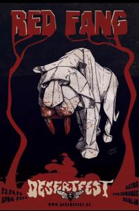 Affiche Red Fang Jo Riou Desertfest
