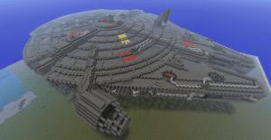 Millenium Falcon sur Minecraft