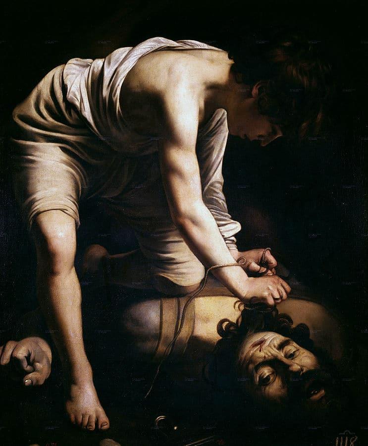 Le Caravage - David et Goliath - vers 1599