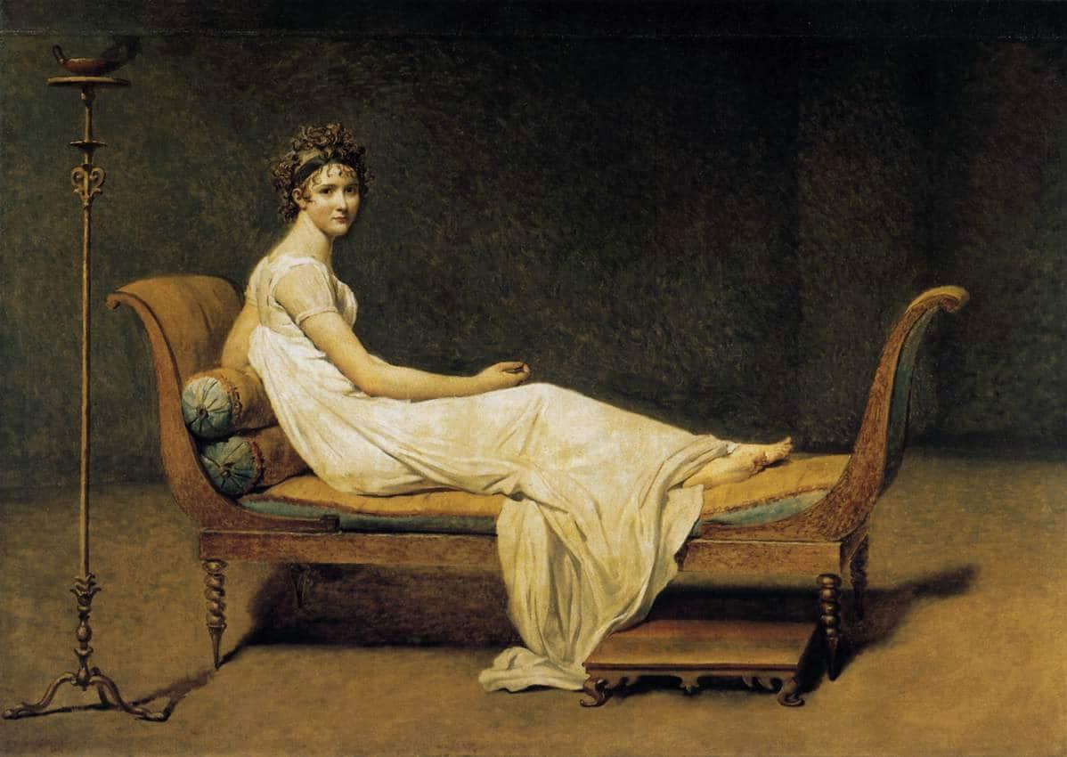 Jacques-Louis David, Portrait de madame Récamier, 1800.