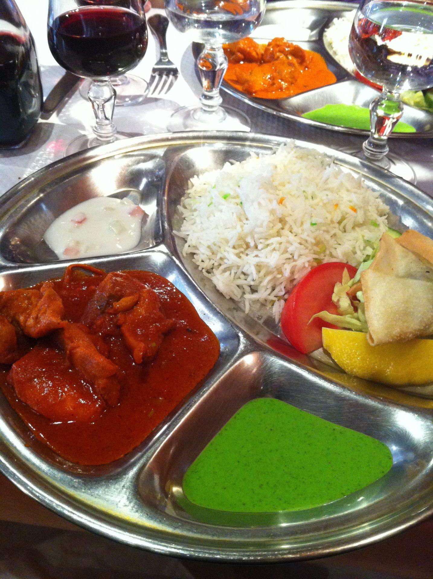 les trois sauces du restaurant indien
