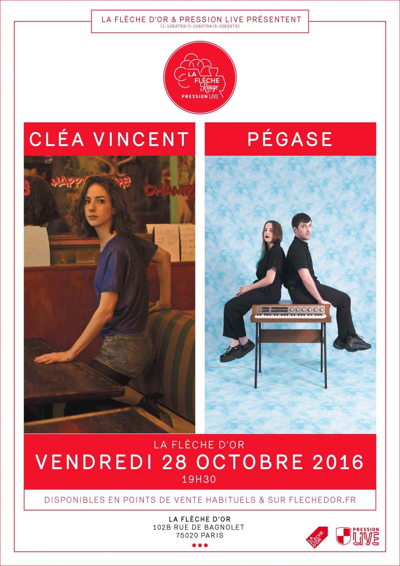 clea vincent pegase concert