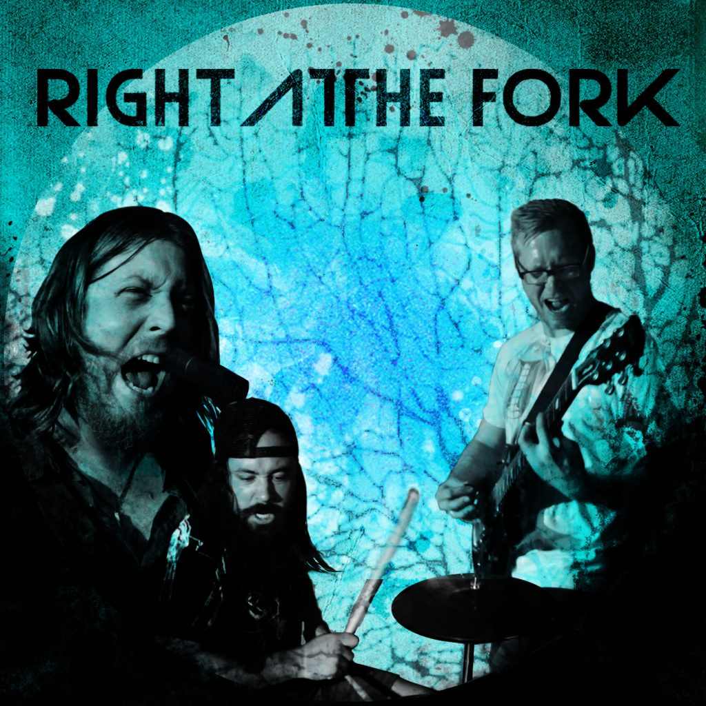right at the fork