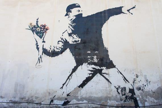The Flower Thrower by Banksy. [Bethlehem, Palestine]